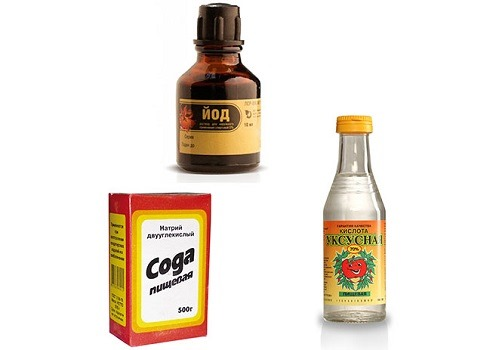 Уксус, сода и йод